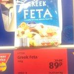 Greek feta 89p @ Aldi