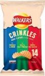 walkers crinkles 14 pack 99p @   99p shop