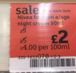Nivea anti age night cream £2 reduced from £9 (Sainsburys in store )
