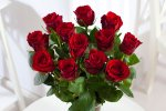 12 Red Roses + Free Courier Delivery For Valentine's Day - £17.60 (Buyagift or Asda Flowers)
