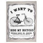 I want to ride my bicycle tea towel only £1.31 @ Tesco Direct