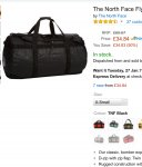 The North Face Base Camp Duffel Bag in Black 25L (XS) 1/2 price NOW £34.84 @ AMAZON