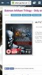 Batman Arkham Trilogy ps3 £10 @ Game