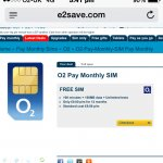 E2save O2 Contract 100mins 100mb data & Unlimited texts free after cashback