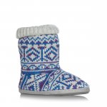 Womens Blue aztec knitted slipper boots Debenhams Was £17.50 Now £5.25