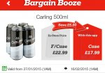 Carling 500ml 24 pack for £17.99 @ Bargain Booze with App