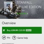 ITS BACK! Titanfall Deluxe Edition for Xbox One - £10