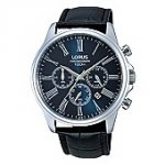 Lorus Mens Black Leather Strap Chronograph Watch £29.70 @ Debenhams