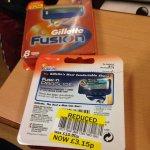 Gillette fusion 8pack £3.15 @ Tesco instore