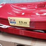 Red sledges £3.99 home bargains