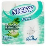 Nicky 3 ply elite toilet paper 18 pack £3.99 @ Home Bargains