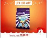 FREEBIE... Enter 15OREO into the Shopitize app for £1 off Dairy Milk Marvellous Mix Upwith Oreo. £1 @ Tesco & Asda = FREE...