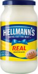 Hellmanns real mayonnaise original/light 400g £1.19 @ Lidl from feb 5