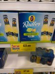 12 pack of Fosters Raddler lime and Ginger for £3!... Thats 25p per bottle! From Home Bargains.