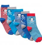 John Lewis Boy Skull Socks, Pack of 5, Blue £1.50 @ John Lewis Free C&C