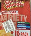 Golden wonder 16 pack £1 in asda was £2.98