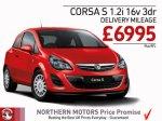 Vauxhall Corsa 1.2 S 3dr at Northern Motors Vauxhall Dealership £6995 @ Northern Motors