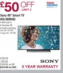 Sony 48 inch tv. 48w585 £419.98 @ Costco instore