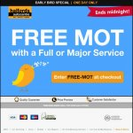 Free MOT with a Full or Major Service @ Halfords