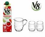 Win 5 x V8 Original Vegetable Juice plus glassware Retail Value £96.50 @ Win Something