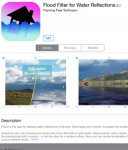 Freebie @ AppStore Flood Filter for Water Reflections RRP £0.79