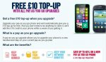 Free £10 top-up with all pay-as-you-go Upgrades at Carphone Warehouse phones start from £4.99 with free delivery