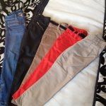 5 pairs of girls trousers aged 6 & 7 years