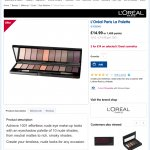 L'oreal Paris Eyeshadow Palette - Two for £14 or one for £14.99 @ Boots