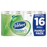 Velvet Comfort 16 Rolls £5.00 @ Iceland