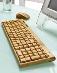 Artis Handmade Bamboo Wooden PC Wireless Keyboard and Mouse - Compact Version - £19.99 - Amazon / Safield Dist. Ltd