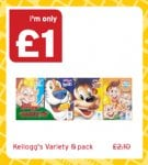 Kellogg's Variety Pack – £1.00 @ One Stop discount offer