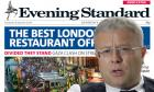 FREE Evening Standard Newspaper on MONDAY in ALL retail outlets, vendor pitches and travel points