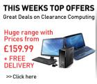 Dixons Clearance on Laptops/Notebook and Desktop computers