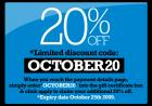 20% OFF Orders @ Subside Sports until 25th October