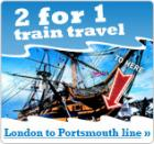 2 for 1 Travel On SouthWest Trains - Portsmouth to London Line