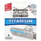Wilkinson Sword QuattroTitanium Blades, 4 pack, 2.99 @ gordons-chemists.com