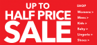 Upto half price sale asda george