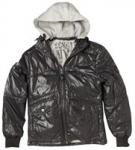 Schott Mens Wet Look Hooded Puffa Jacket Black - was £119.99 now £19.12 @ M&M