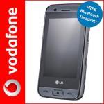 LG Viewty Smile Silver on Vodafone PAYG  FREE BLUETOOTH HANDSET  - £49.99 @ VODAFONE EBAY STORE