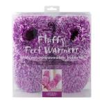 Aroma Home Fluffy Microwavable Feet Warmers - Purple SAVE 50% at Amazon UK