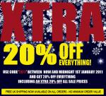 Xtra 20% off EVERYTHING @ Bang Lads