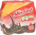 Slimfast Ready To Drink Chocolate Flavour Milkshakes 6 x 325ml was £7.99 now £3.99 @ Sainsburys