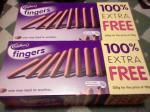 Cadbury Fingers 125g & Jaffa Cakes + 100% Extra Free 2 for £2 In-Store @ Nisa