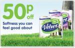 Triple Velvet Toilet rolls 9 pack £2.29 @ Morrisons or £1.79 with coupon!