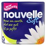 Nouvelle Soft Toilet Roll/Tissue 28p per roll (9 Pack - £5.09, Buy 1, Get 1 free!)