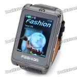 """1.8"""" Touch Screen Wrist Watch Style Quandband GSM Cell Phone w/ FM - Black from Deal Extreme"""