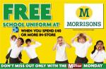 FREE School Uniform when you spend £40 @ Morrirons with Monday's Daily Mirror