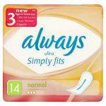 Always Ultra Simply Fits Normal (14) & Always Ultra Simply Fits Normal with Wings (12) £1 BOGOF @ superdrugs
