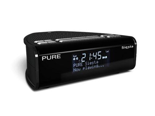 pure siesta dab fm clock radio black asda instore only hotukdeals. Black Bedroom Furniture Sets. Home Design Ideas