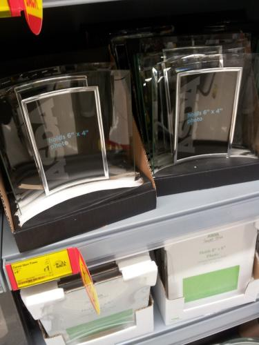 asda curved glass photo frame 1 asda instore hotukdeals. Black Bedroom Furniture Sets. Home Design Ideas